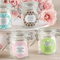 Personalized Glass Wedding Favor Jars (Set of 12)