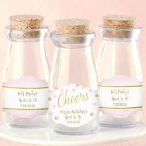 Personalized Birthday For Her Milk Jar Favors (Set of 12) image