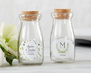 Personalized Botanical Garden Milk Jar Favors (Set of 12) image