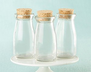 Vintage DIY Milk Bottle Favor Jars (Set of 12) image