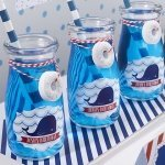 Personalized Nautical Milk Jar Birthday Favors (Set of 12)