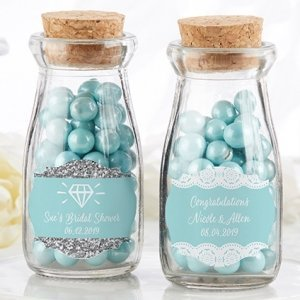 Personalized Something Blue Milk Jar (Set of 12) image