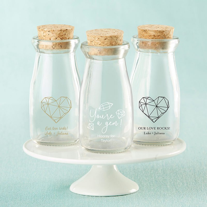 Personalized Elements Vintage Milk Bottle Favor Jar (Set of  image