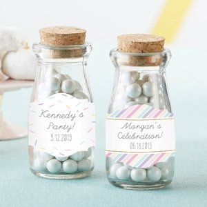 Personalized So Sweet Milk Jar Favors (Set of 12) image