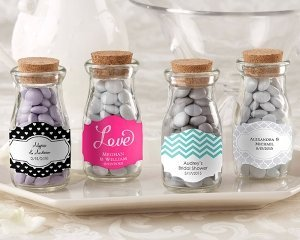 Personalized Vintage Wedding Favor Glass Bottles (Set of 12) image