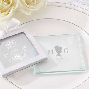 Personalized English Garden Glass Coaster (Set of 12) image