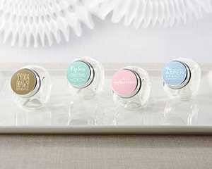 Personalized Mini Glass Favor Jars - Custom Design (Set of 1 image