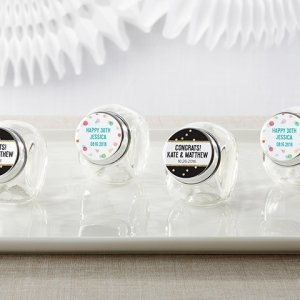 Personalized Party Time Mini Glass Favor Jars (Set of 12) image