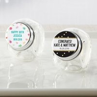 Personalized Party Time Mini Glass Favor Jars (Set of 12)
