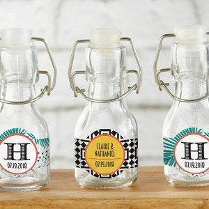 Personalized Tropical Mini Glass Favor Bottle (Set of 12) image