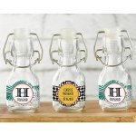 Personalized Tropical Mini Glass Favor Bottle (Set of 12)