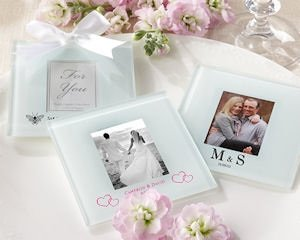 Personalized Frosted Glass Photo Coasters (Set of 12) image