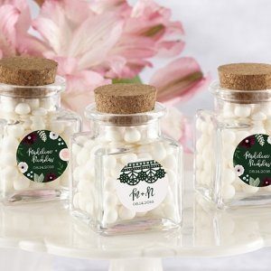 Romantic Garden Petite Square Glass Favor Jars (Set of 12) image