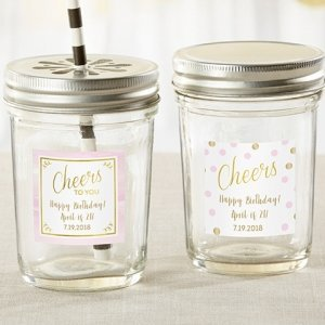 Personalized Birthday For Her Mason Jar Favors (Set of 12) image