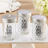Personalized Eat Drink & Be Married Mason Jar (Set of 12)