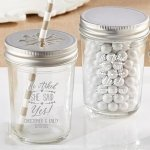 Personalized 'He Asked She Said Yes' Mason Jars (Set of 12)