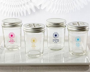 Personalized 8 oz. Glass Mason Jar - Sunflower (Set of 12) image