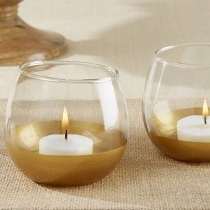 Gold Dipped Glass Votive Holder (Set of 4) image