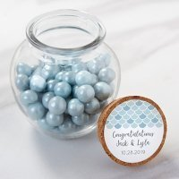 Seaside Escape Personalized Glass Jar Favors (Set of 12)