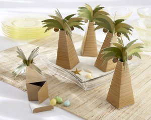 Palm Tree Favor Boxes (Set of 24) image