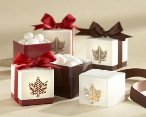 Fall Leaf Party Favor Boxes (Set of 24) image