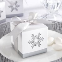 Laser-Cut Snowflake Favor Boxes (Set of 24)