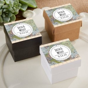 Personalized Travel and Adventure Favor Boxes (Set of 24) image