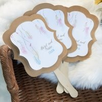 Personalized Boho Kraft Fan Favors (Set of 12)