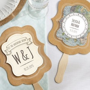 Personalized Travel and Adventure Fan Favors (Set of 12) image