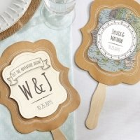 Personalized Travel and Adventure Fan Favors (Set of 12)