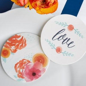 In Bloom Botanical Paper Coasters (20 Count) image