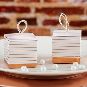 Striped Copper Foil Favor Box (Set of 24) image