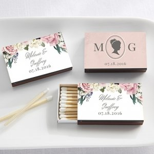 Personalized English Garden Black Matchboxes (Set of 50) image