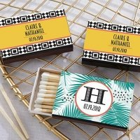 Personalized Tropical Chic Matchboxes (Set of 50)
