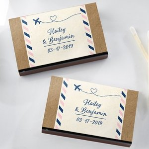Personalized Travel and Adventure Matchboxes (Set of 50) image
