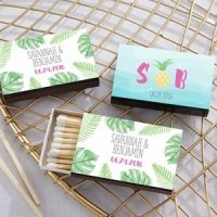 Personalized Pineapples and Palms Matchboxes (Set of 50)