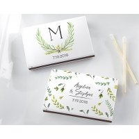 Personalized Botanical Garden Matchboxes - White or Black (S