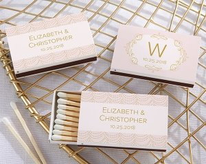 Personalized Modern Romance White Matchboxes (Set of 50) image