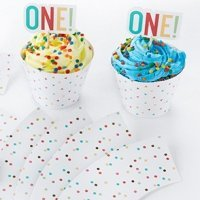 1st Birthday Cupcake Kit Toppers and Wrappers