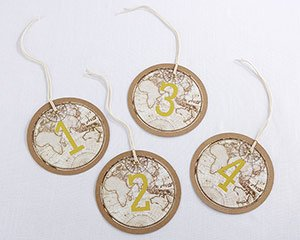 Travel & Adventure Gold Foil Table Numbers (1-18) image