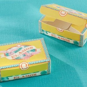 Cigar Box Inspired Favor Box (Set of 24) image