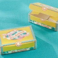 Cigar Box Inspired Favor Box (Set of 24)