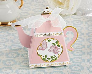 Tea Time Whimsy Pink Teapot Favor Box (Set of 24) image