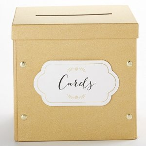 Gold Glitter Collapsible Card Box image