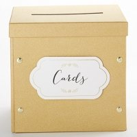 Gold Glitter Collapsible Card Box
