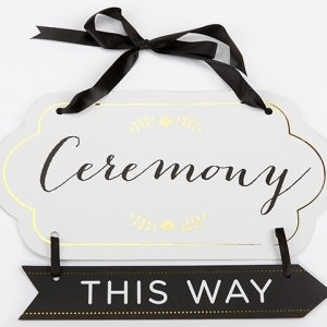 Classic Gold Foil Directional Ceremony Sign image
