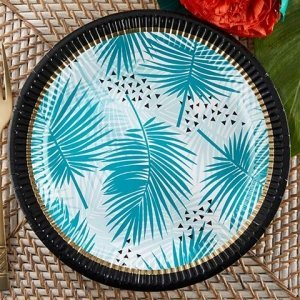 Tropical Chic Paper Plates (Set of 8) image