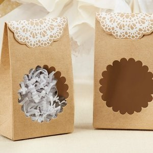 Rustic Kraft Tent Favor Box (Set of 12) image
