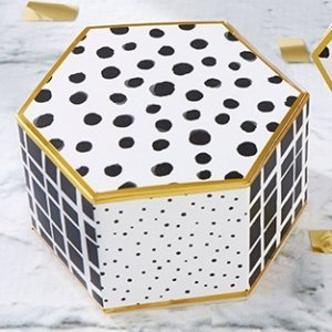 Modern Classic Hexagon Favor Box (Set of 12) image