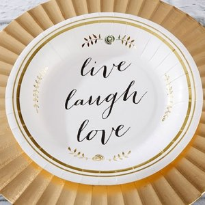 Live Laugh Love Paper Plates (Set of 8) image